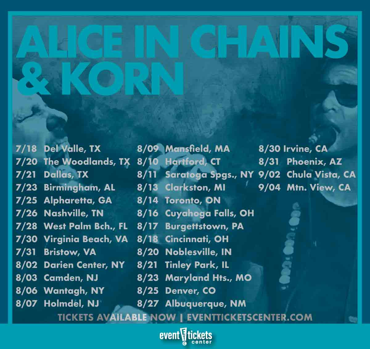 alice in chains and korn tour dates