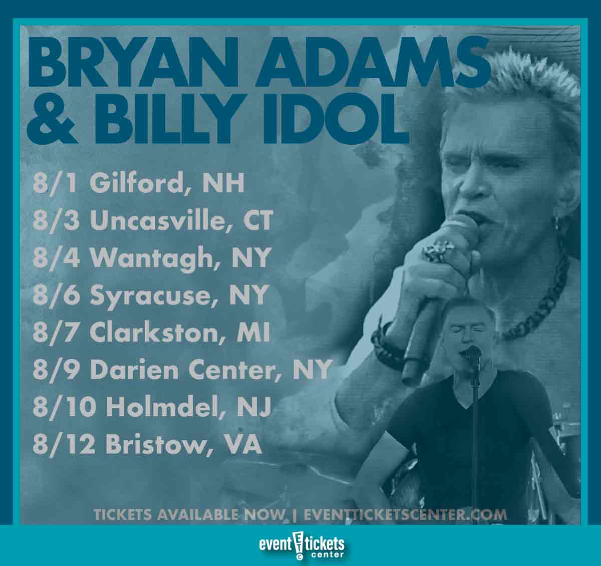 bryan adams and billy idol tour dates