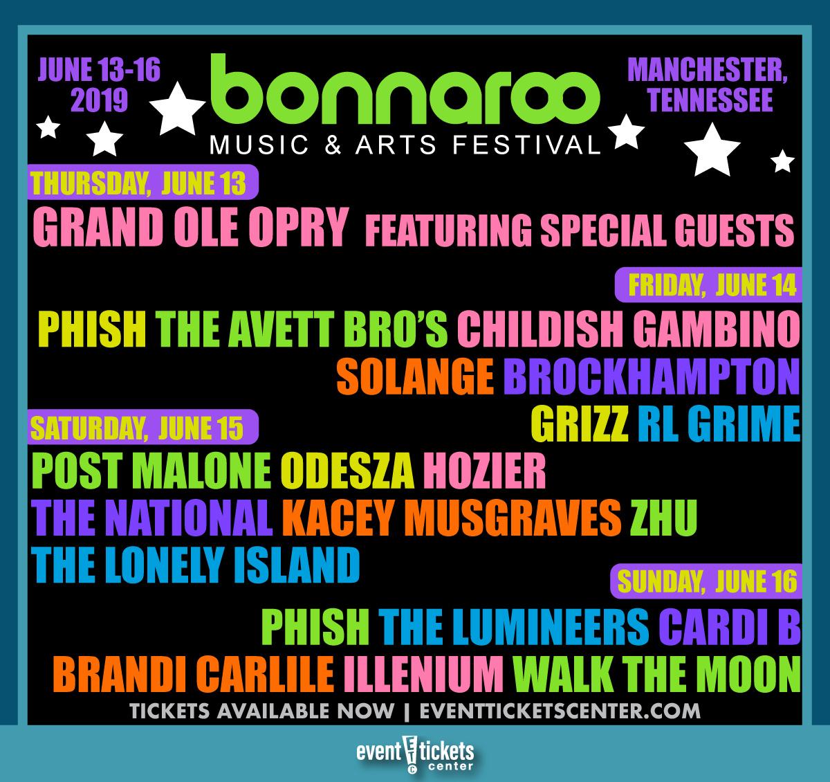 Bonnaroo single day pass 2020