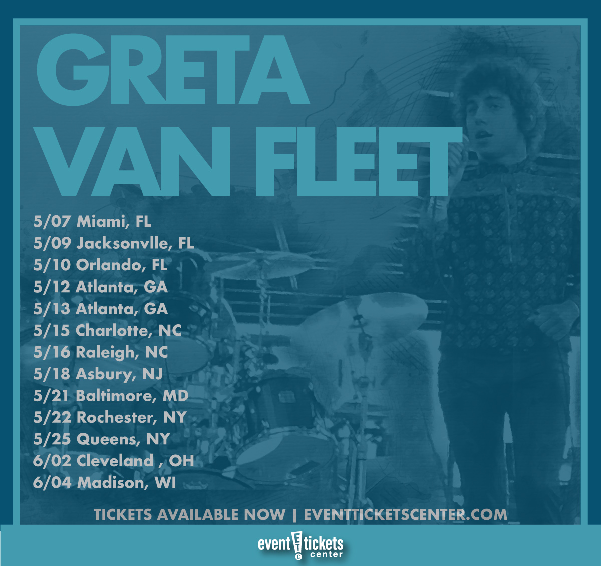 greta van fleet tour map