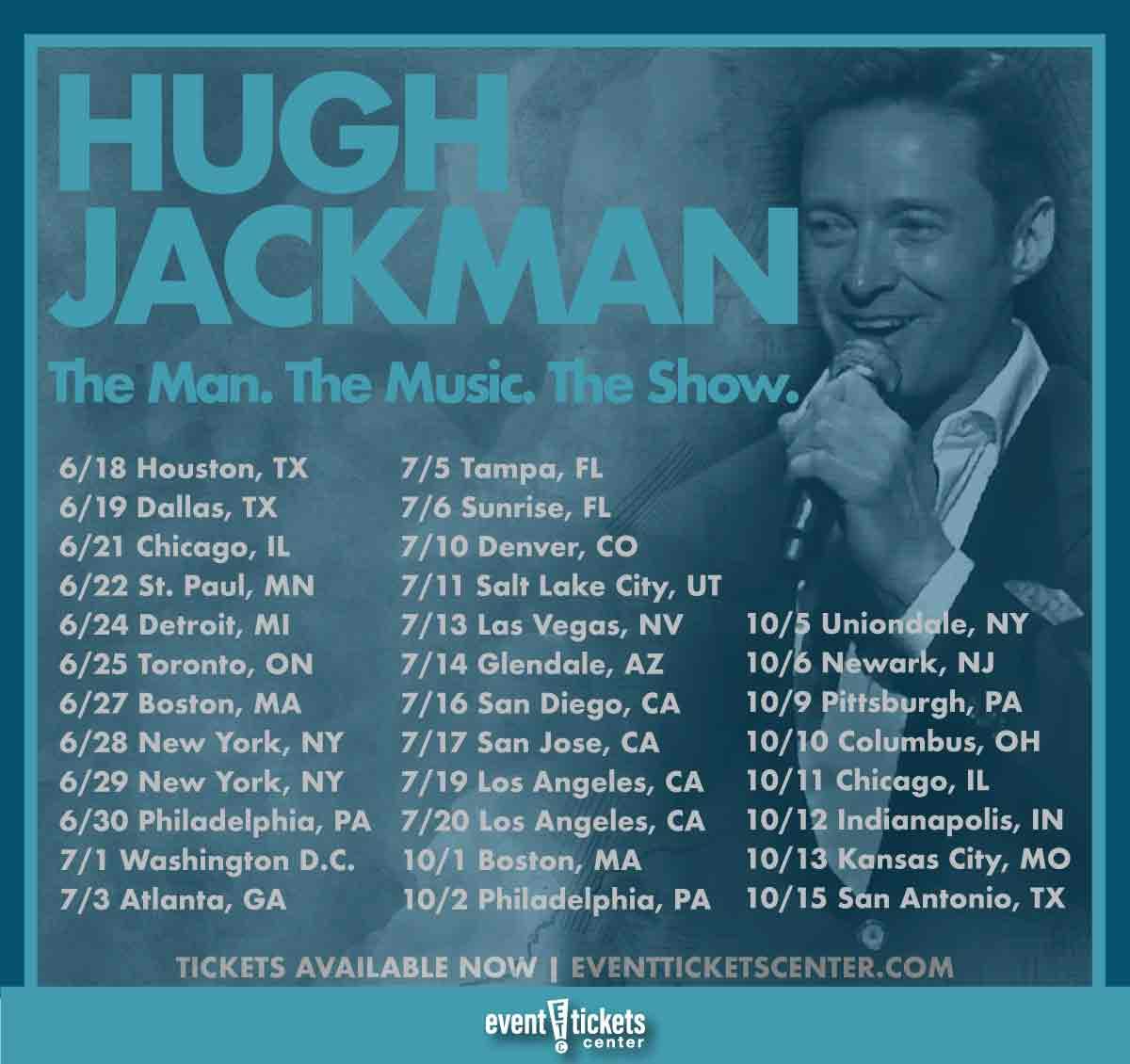 hugh jackman tour dates