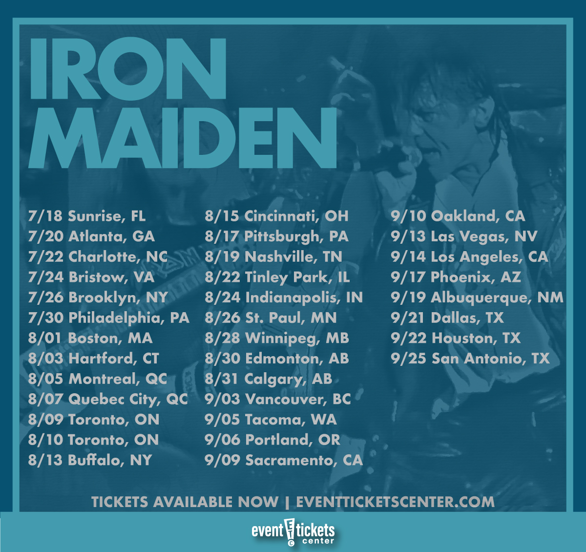 iron maiden tour dates