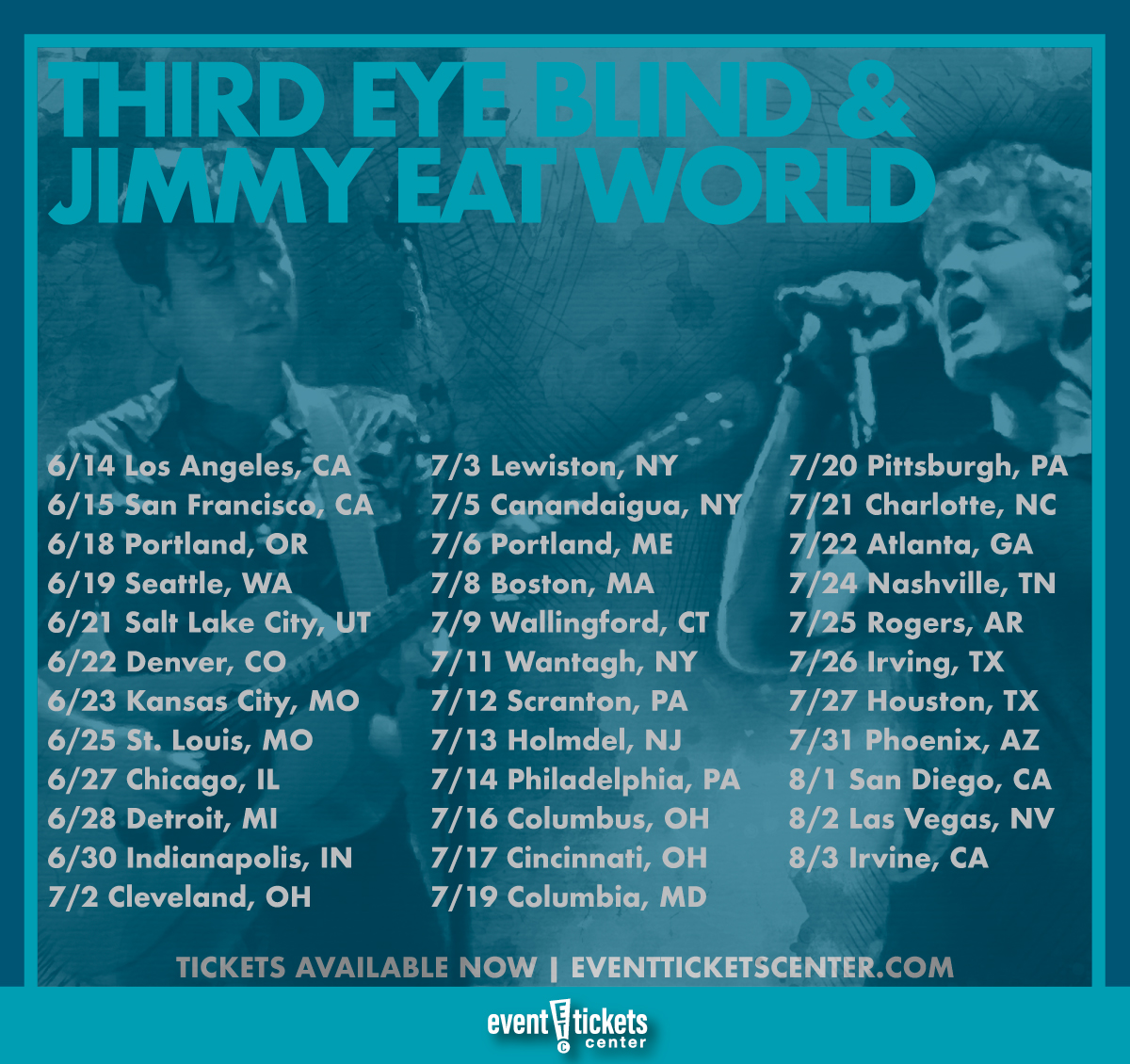 jimmy eat world and third eye blind tour dates