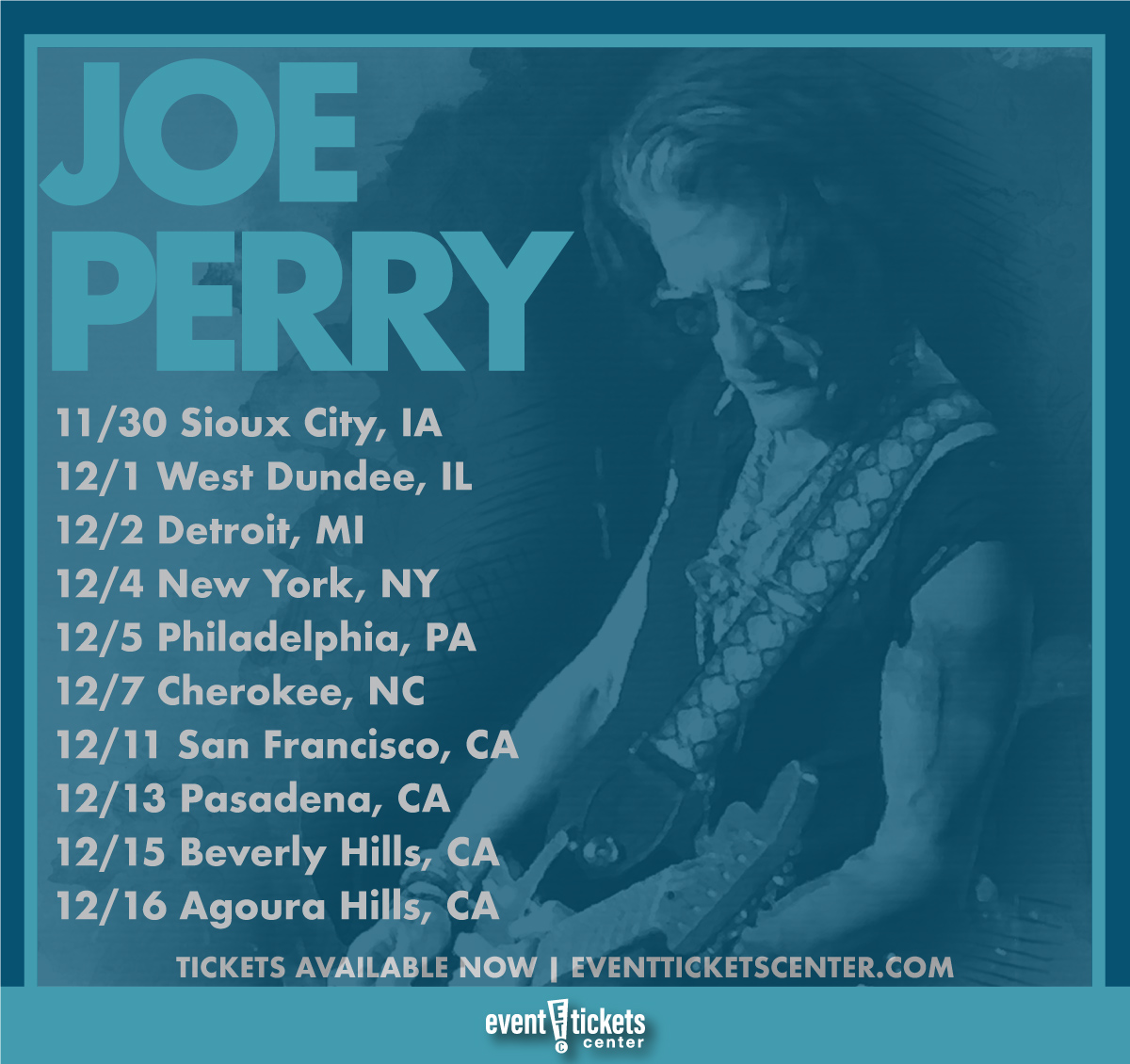 joe perry tour map
