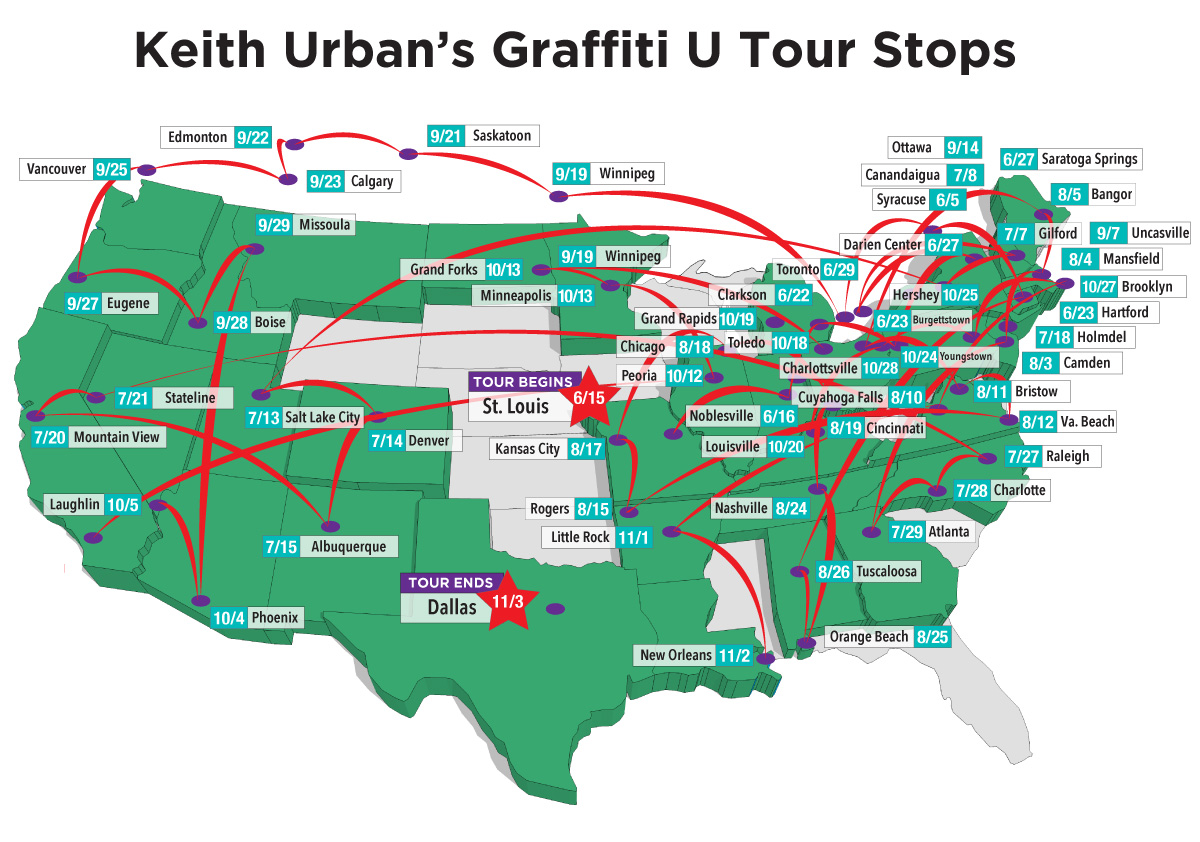 Where is keith urban playing near me date