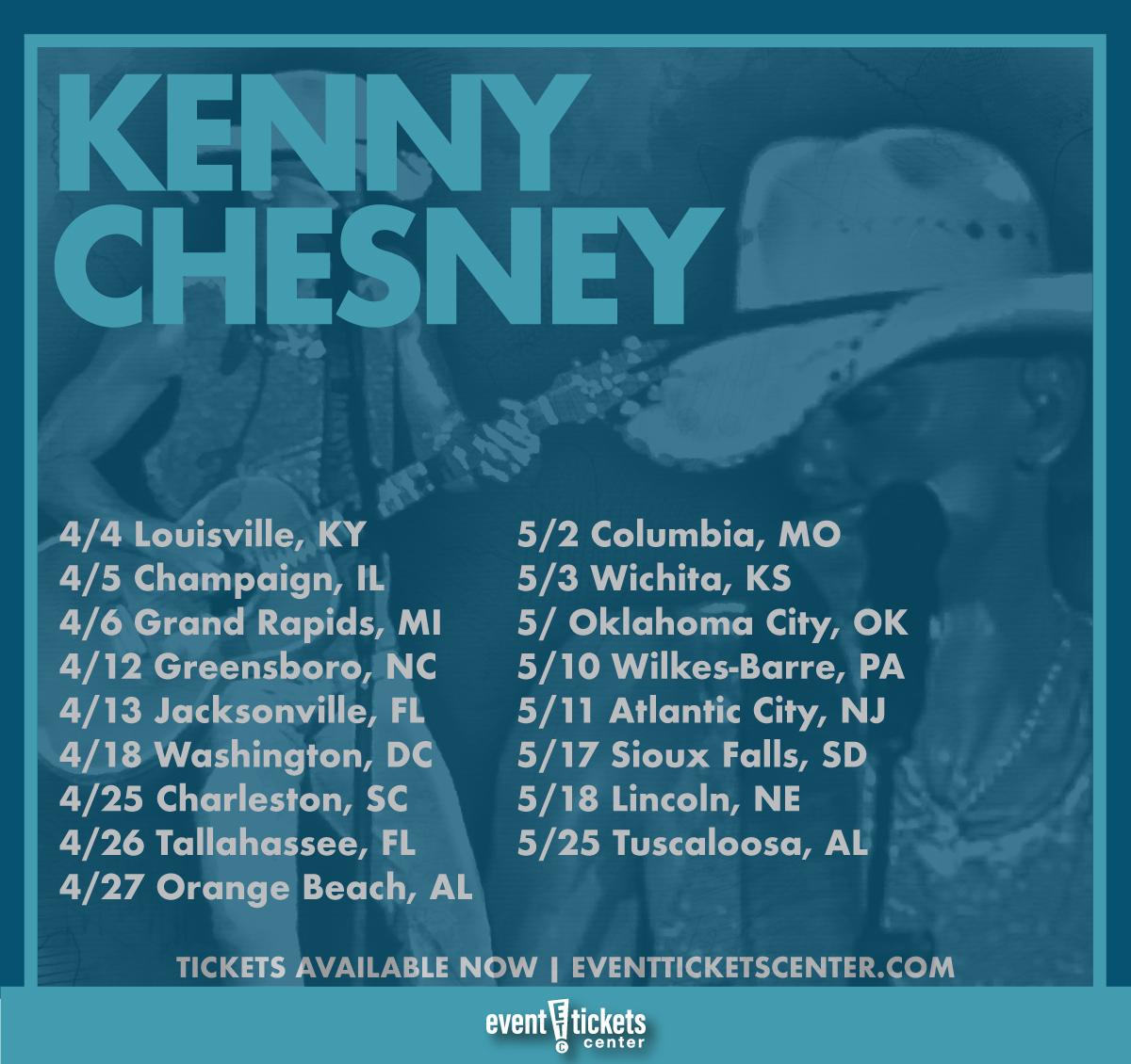 kenny chesney tour dates