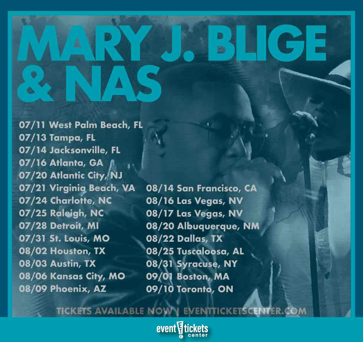 mary j blige and nas tour dates