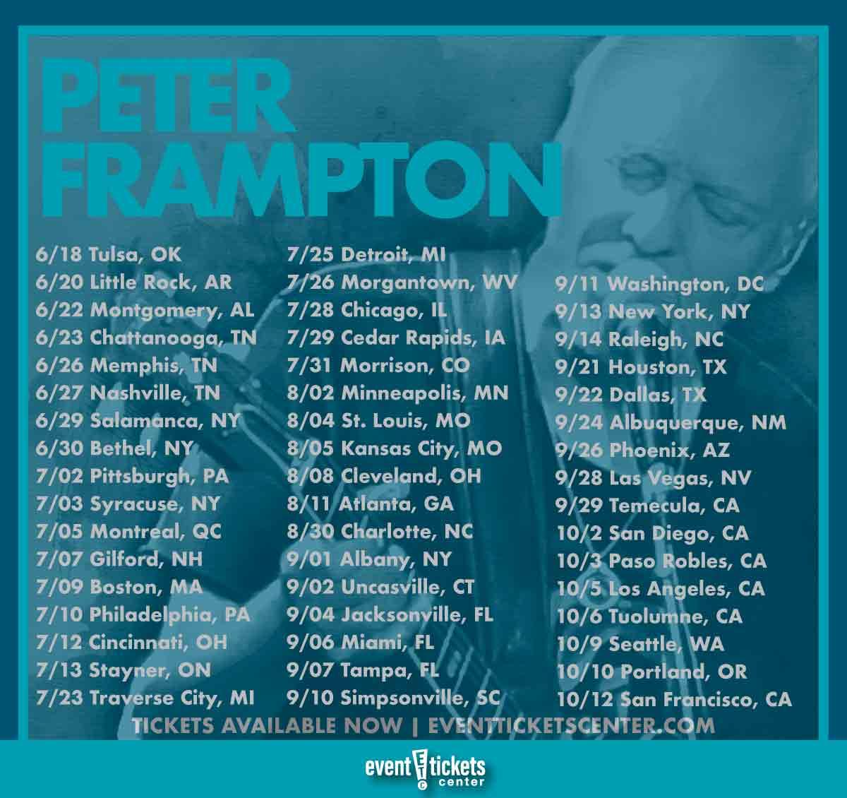 peter frampton tour dates