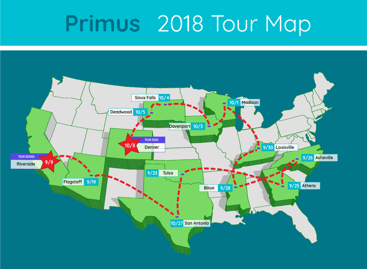 primus books new tour in support of new album. Black Bedroom Furniture Sets. Home Design Ideas