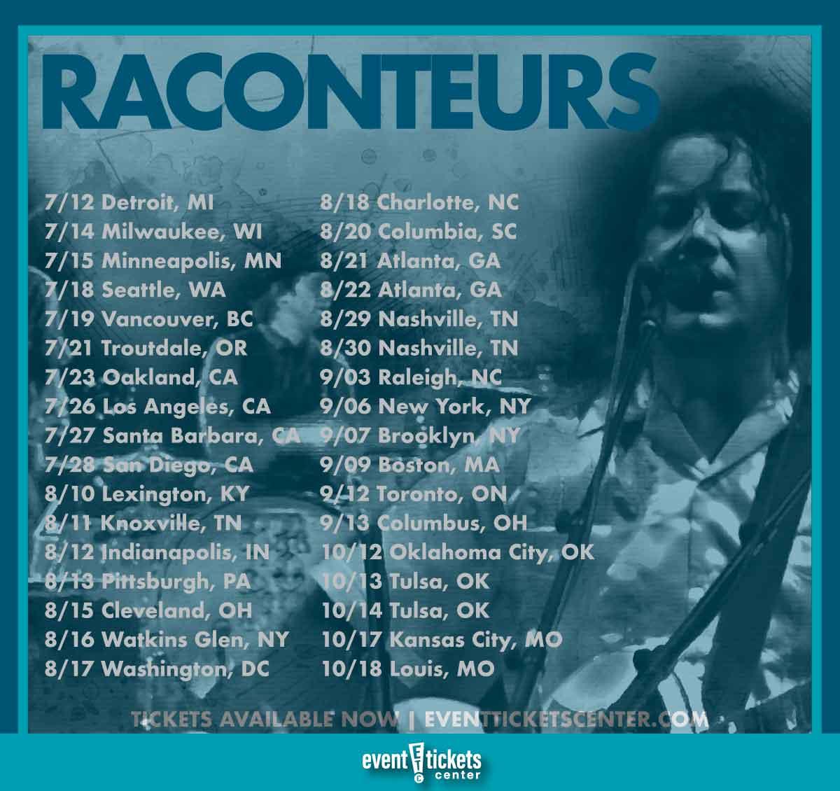 the raconteurs tour dates