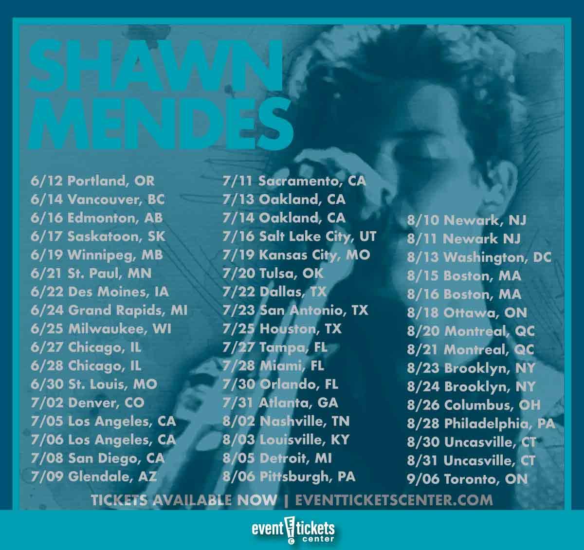 shawn mendes tour dates