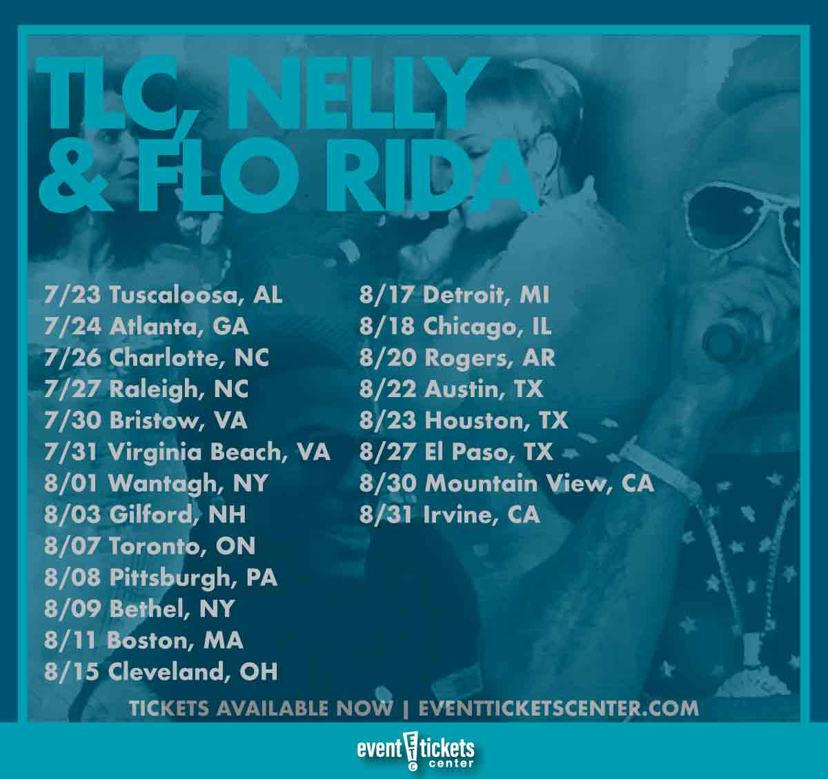 nelly tlc and flo rida tour dates