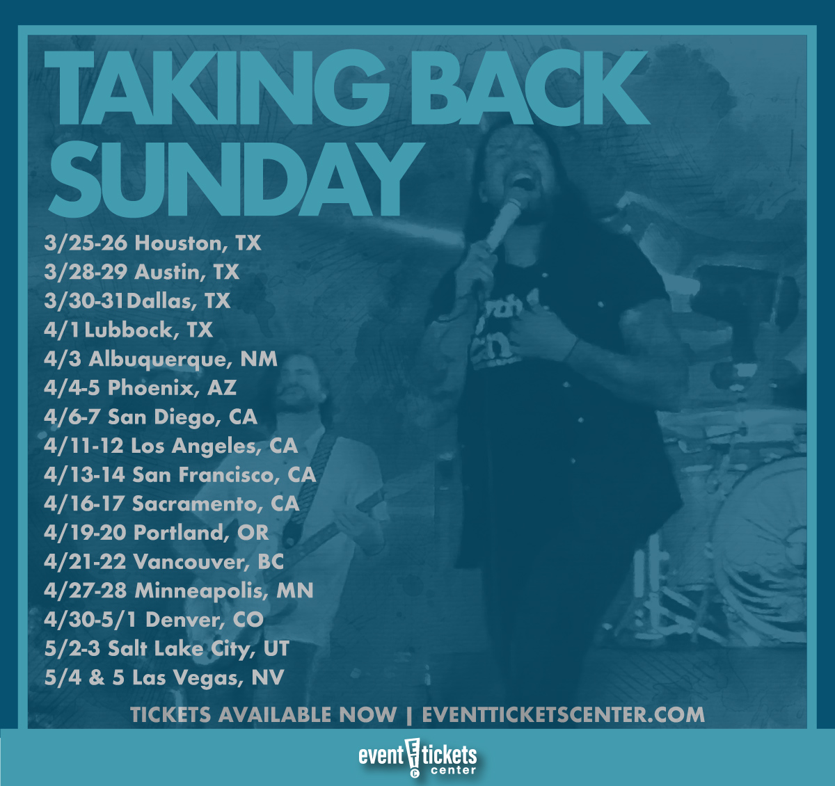 taking back sunday tour map