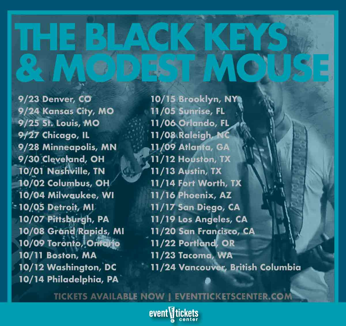 the black keys and modest mouse tour dates