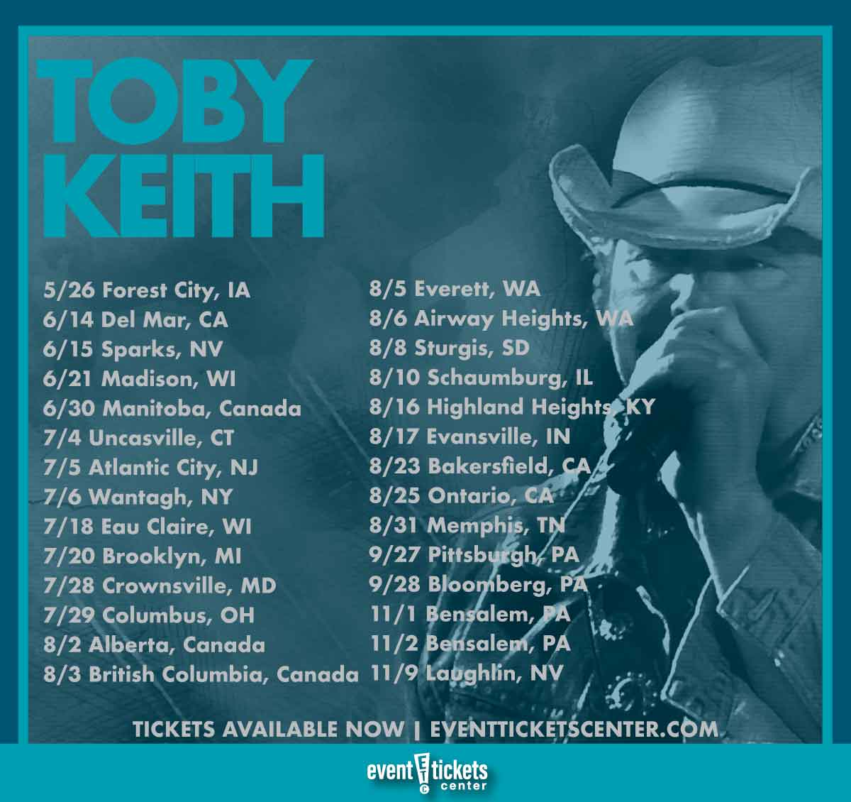 toby keith tour dates