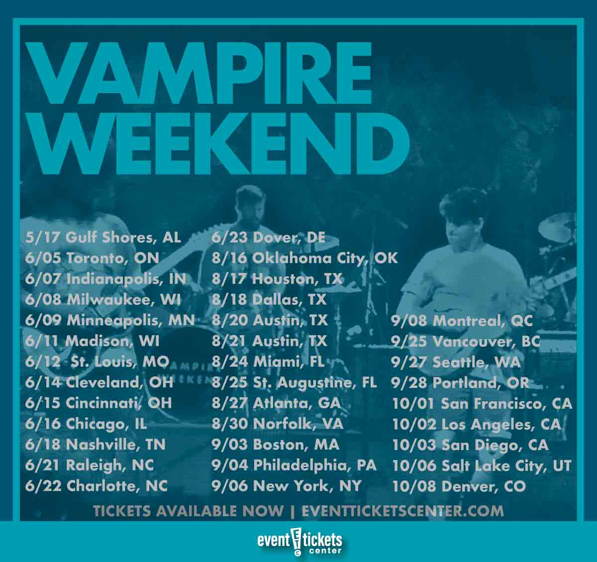 vampire weekend tour dates