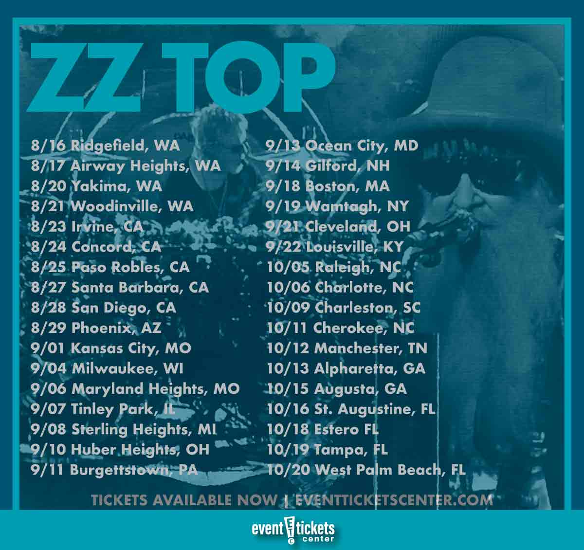 zz top tour dates