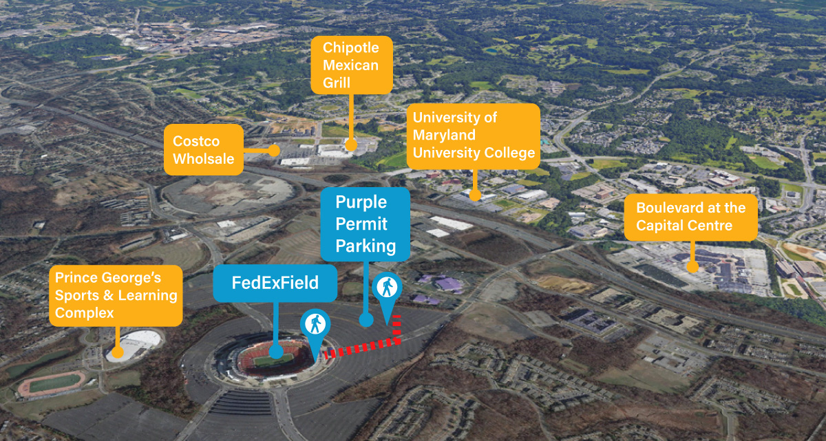 fedexfield points of interest map
