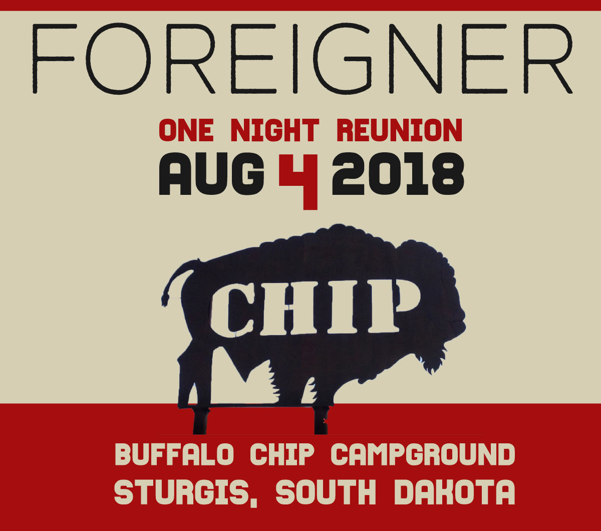 foreigner sturgis buffalo chip