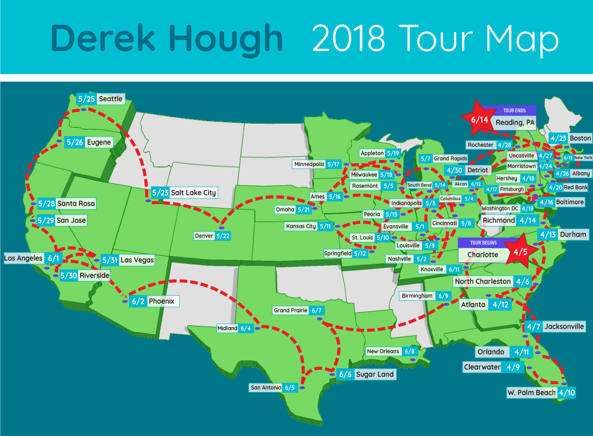 derek hough tour map