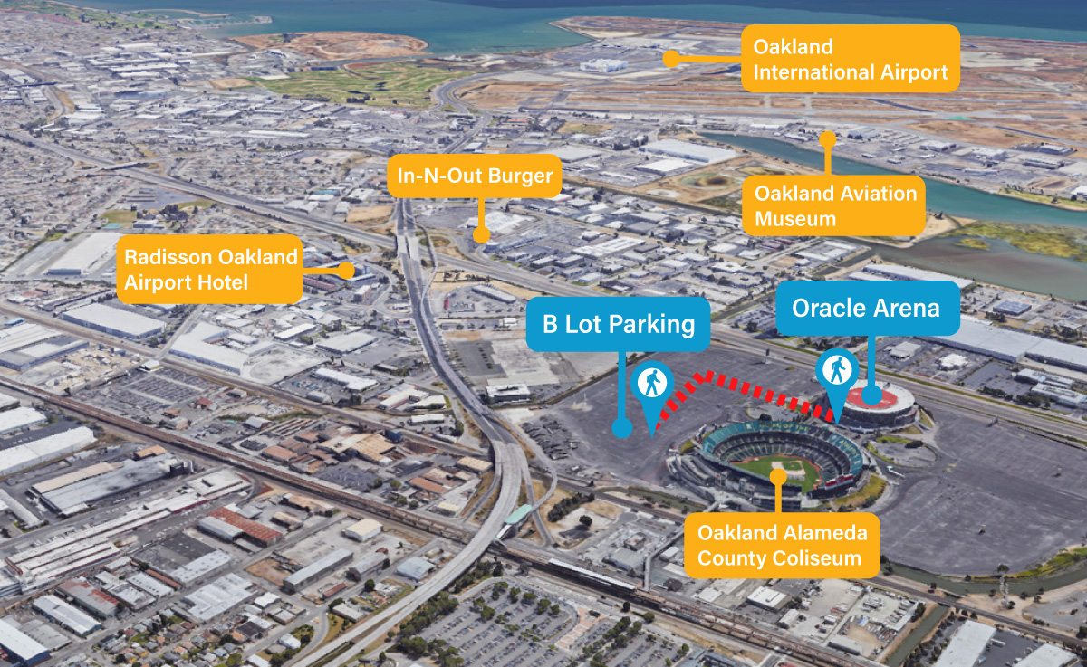 Oracle Arena Food, Seating, and Parking Guide