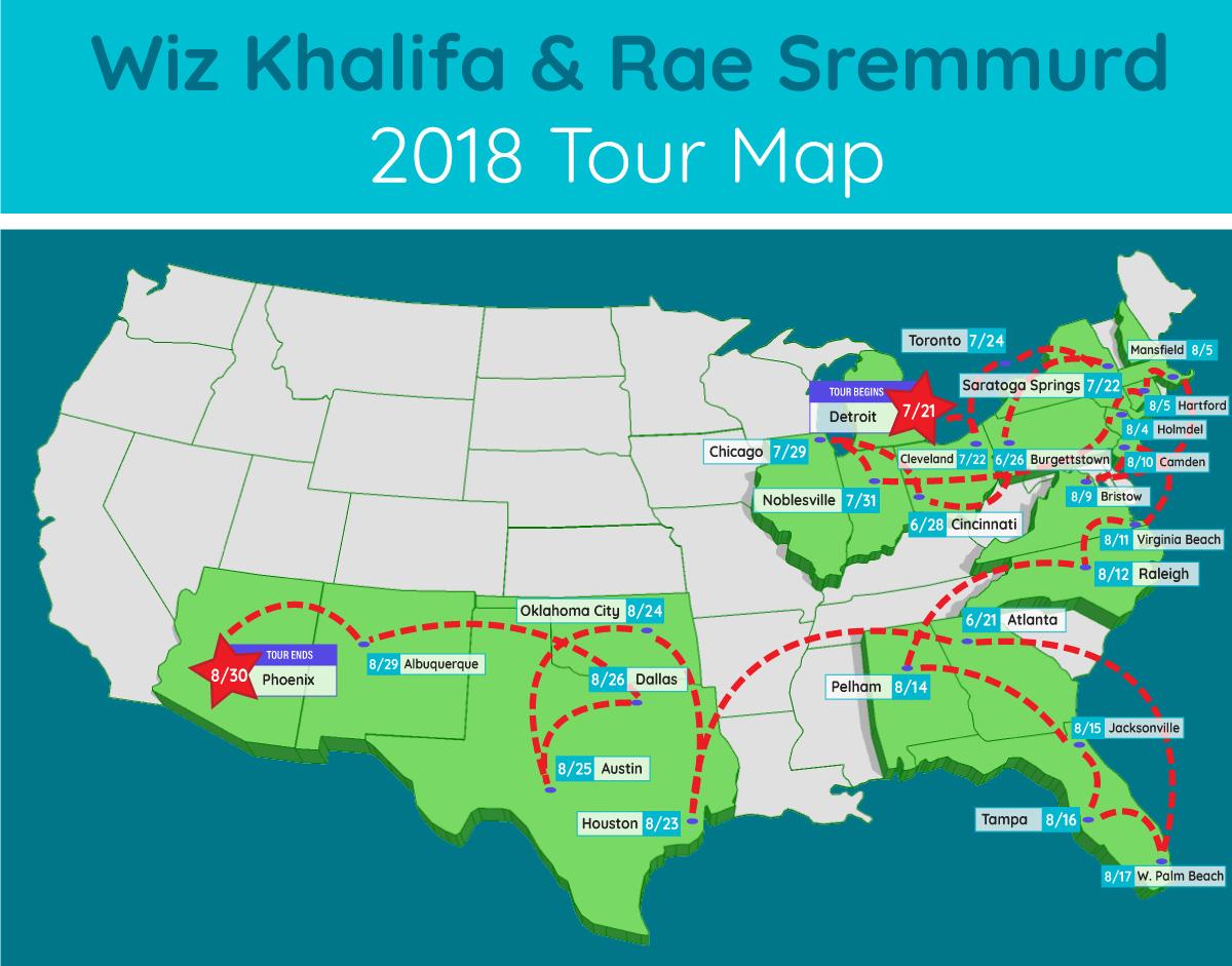 wiz khalifa rae sremmurd tour map