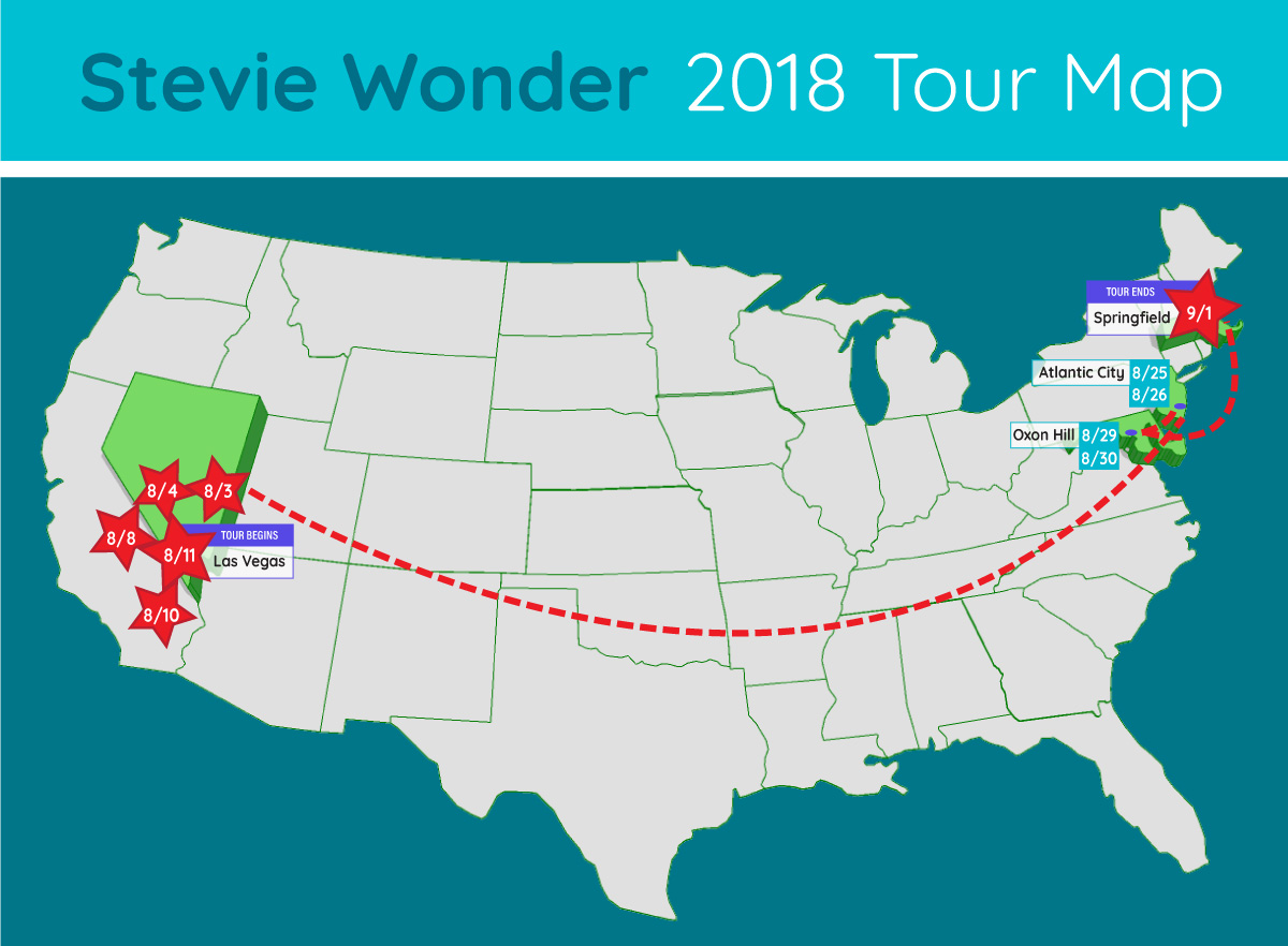 stevie wonder tour map