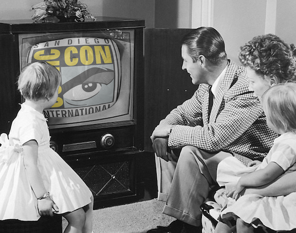Gather around the screen for Comic-Con!