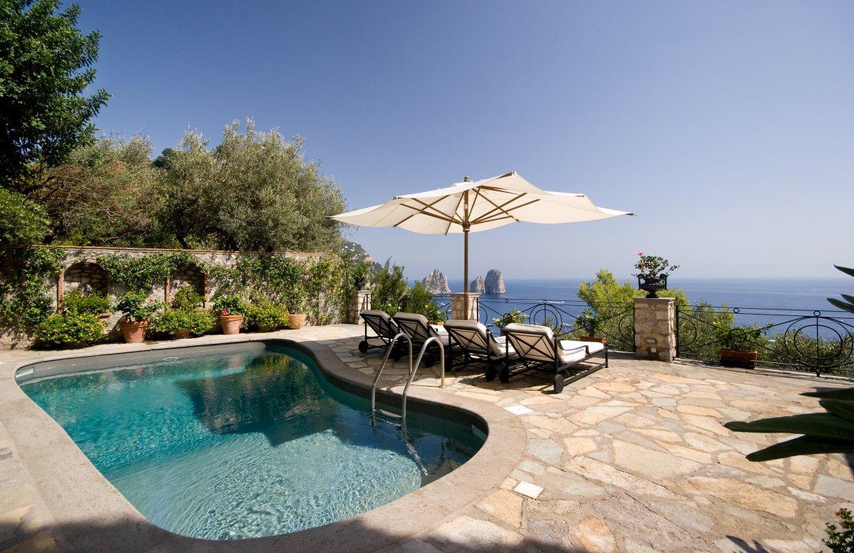 Villa il tramonto luxury villas vacation rentals for Capri luxury villas