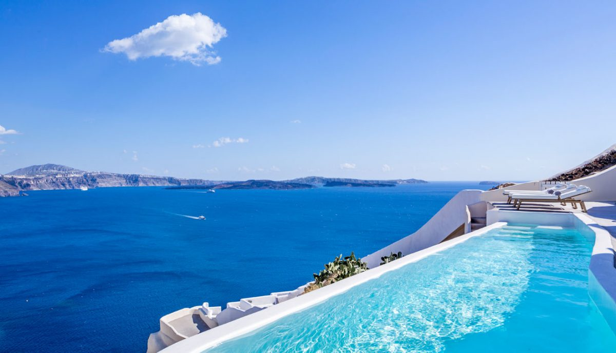 Canaves oia villa luxury villas vacation rentals fantasia villas - Infinity pool europe ...