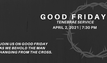 Good Friday Tenebrae Service