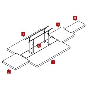 FIG Competition Parallel Bars Mat Configuration