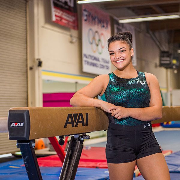 Laurie Hernandez by EVO-Black Balance Beam