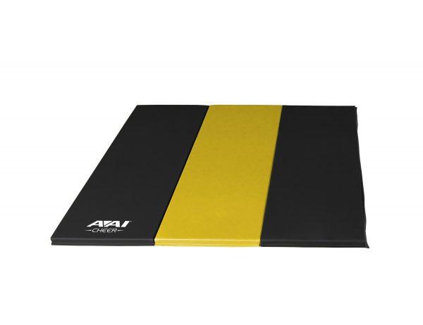 AAI Cheer Black & Yellow Panel Mat