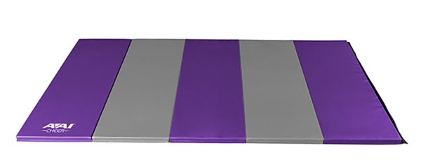 AAI Cheer Purple & Grey Panel Mat