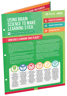 Using Brain Science to Make Learning Stick - Quick Reference Guide