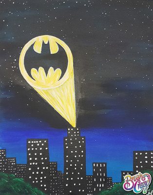 Batman Symbol Cityscape