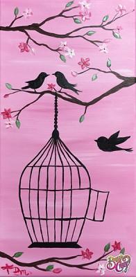 Bird Cage Cherry Blossoms