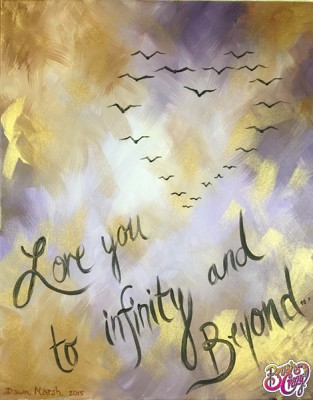Birds in Heart Formation - Love you to Infinity and Beyond
