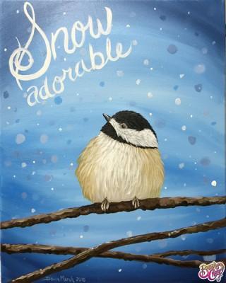 Chickadee Snow Adorable