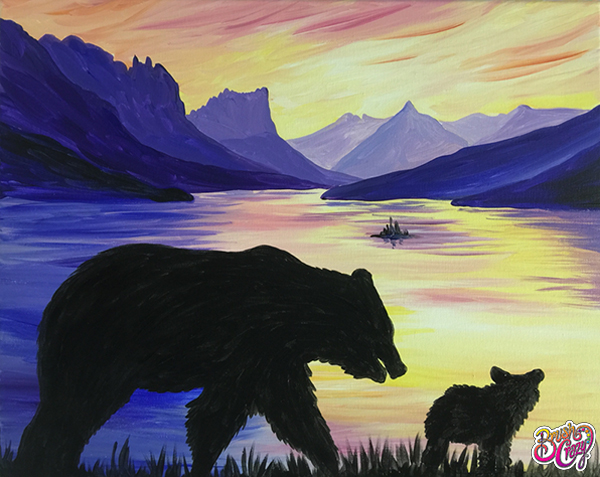A work of art created by our painting class studio in Great Falls, MT