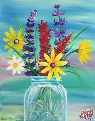 Mason Jar Wildflowers
