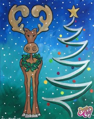 Moose Cuteness Christmas Tree