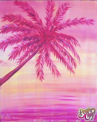Palm Tree Peachy Beach Pink