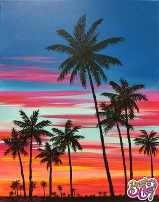 Palm Tree Tequila Sunrise
