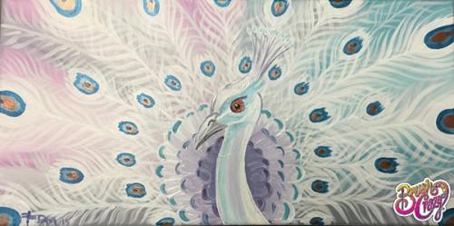 Peacock White and Aqua