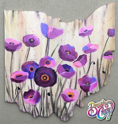 Purple Poppy Grunge