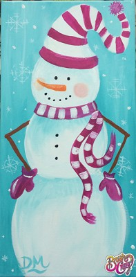 Snowman in Pink