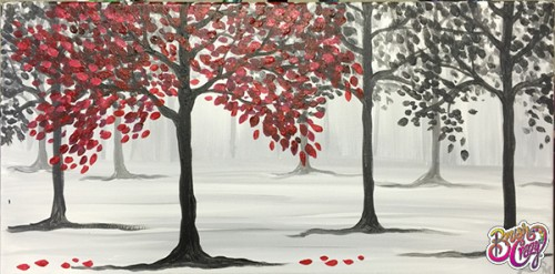 Tree Mist in Red