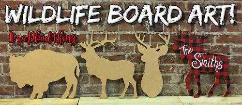Wildlife Board Art Plaid